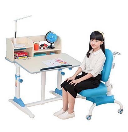 限量秒!心家宜手动升降儿童学习桌椅套装M100_M207L