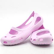 BABUDOG夏季新款凉鞋女童平底沙滩鞋洞洞鞋