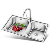 OULIN欧琳OLJD631加厚款厨房双槽+龙头套餐