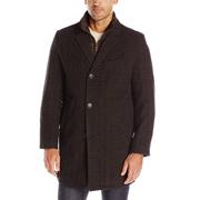 Tommy Hilfiger汤米·希尔费格Wool Button男士羊毛混纺大衣