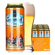 德国进口Schaumhof雪夫小麦白啤酒500ml*24听