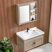 DKNA丹拿卫浴柜镜柜组合套装含陶瓷面盆800mm