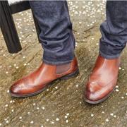 限Prime会员&试用会员!Clarks 其乐 Ronnie Top 男士真皮雕花切尔西短靴