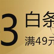 京东商城白条满49减3元、满49减2元
