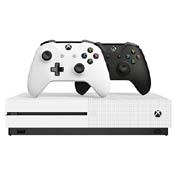中亚Prime会员 Microsoft微软 Xbox One S 1TB游戏主机黑白双手柄套装